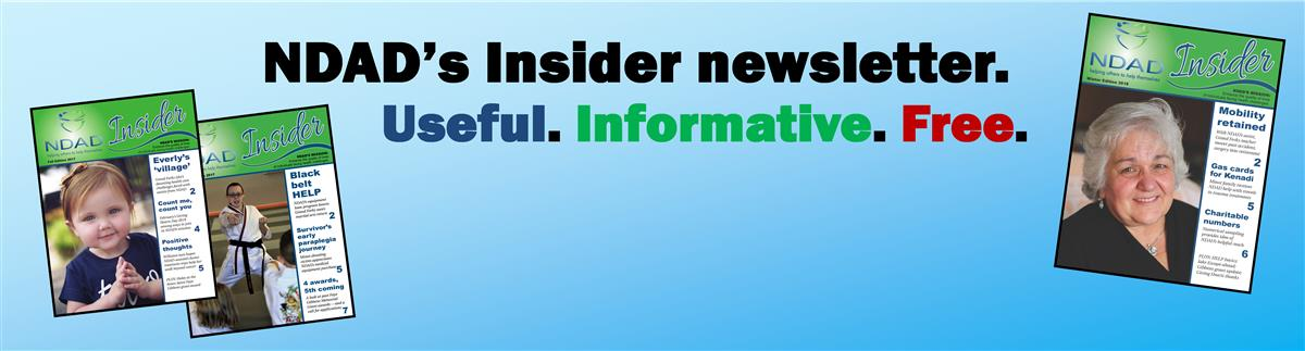 Click the blue banner to sign up for NDAD Insider