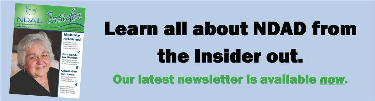 Click this banner to read NDAD's Insider newsletter. It's available now.