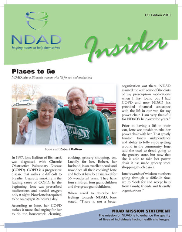 NDAD Insider Fall 2010 cover