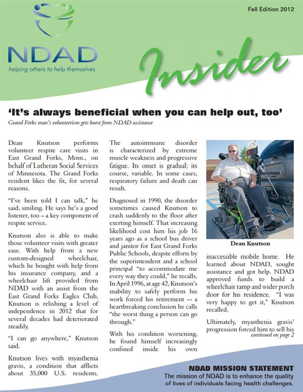 NDAD Insider Fall 2012 cover