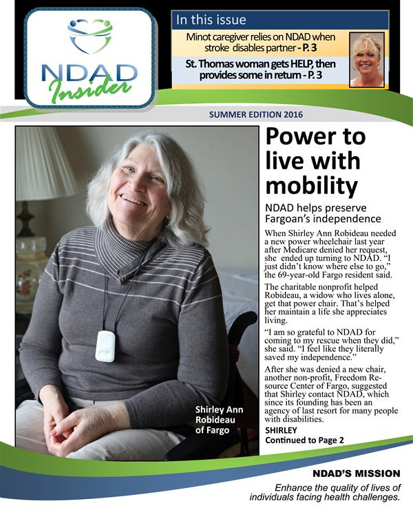 NDAD Insider newsletter, Summer 2016
