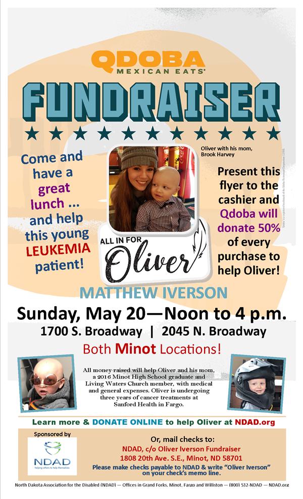 qdoba donation request Oliver Iverson