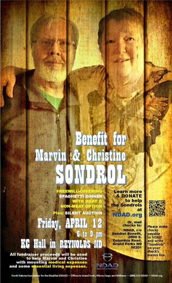 Poster for Sondrol benefit April 12