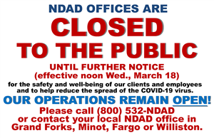 NDAD operations continue while offices closed to public
