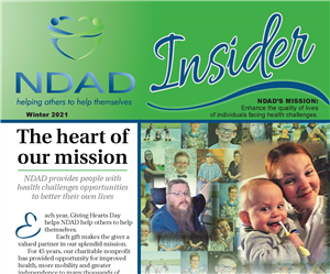 Top half of NDAD newsletter page