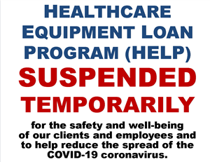NDAD's Healthcare Equipment Loan Program suspended temporarily