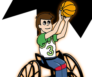 Recreational basketball. On wheels.