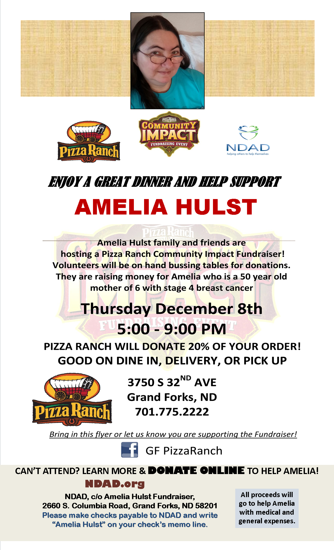 Community Fundraiser:Amelia Hulst